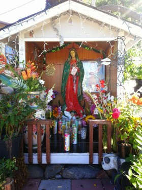 Altar to the Virgin Mary - our personal guides can take many forms