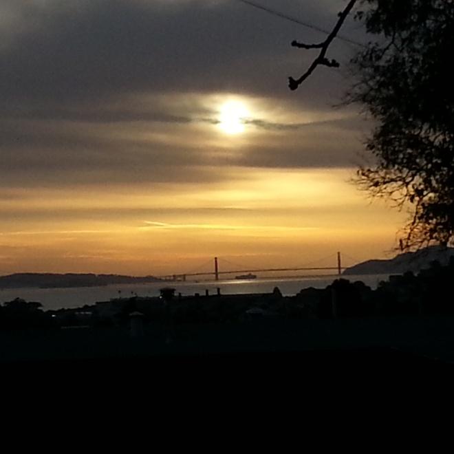 Golden Gate Bridge and sky