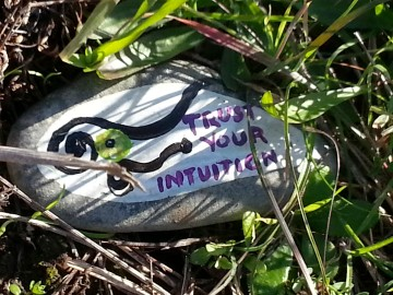 Once I decided to listen to my intuition, signs were everywhere - even in the grass on a walk.
