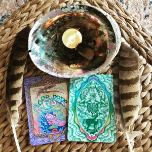 My daily practice with tarot and oracle cards