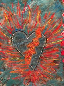 Connecting in with my fiery broken open heart at Chris Zydel's studio