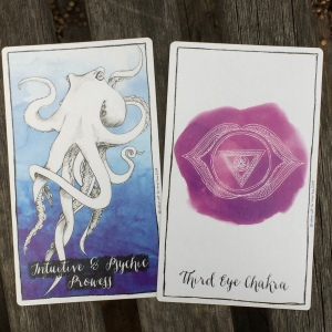 Playing with the Connected and Free Oracle deck to connect with my intuition