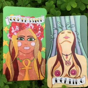 Compassion and Healing cards from the Sassy She Oracle